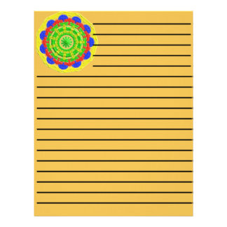 Abstract colorful pattern letterhead