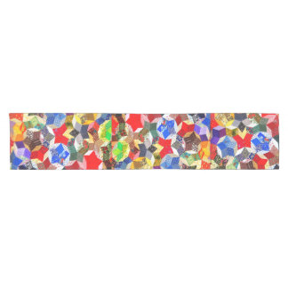 Abstract Colorful Pattern Mixed Short Table Runner