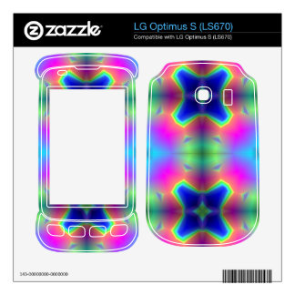 Abstract colorful pattern LG optimus s skin
