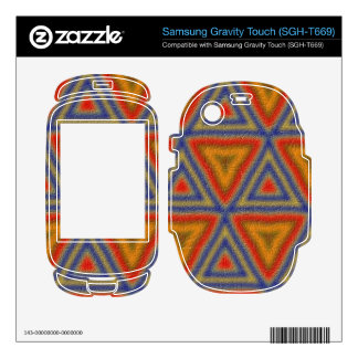 Abstract colorful pattern samsung gravity touch skin