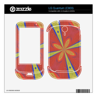 Abstract colorful pattern LG quantum skin