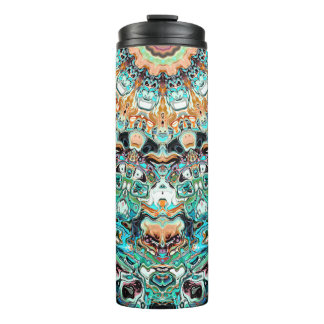 Abstract Colorful Pattern Thermal Tumbler