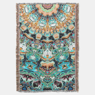 Abstract Colorful Pattern Throw Blanket