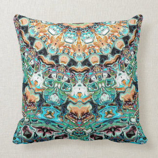 Abstract Colorful Pattern Throw Pillow