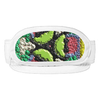 Abstract colorful pattern visor