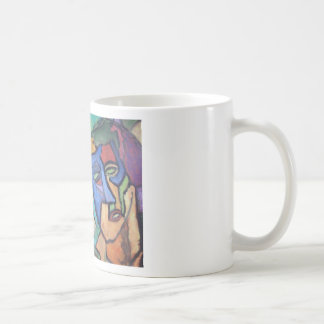 Abstract Colorful People Painting Coffee Mug