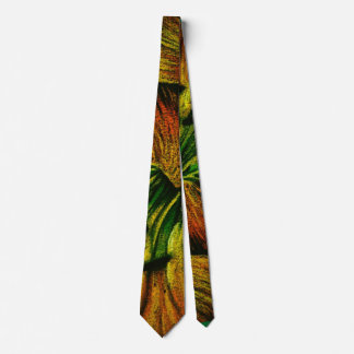 abstract colorful plant design original quirky neck tie