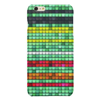Abstract  Colorful quilt fabric Glossy iPhone 6 Plus Case