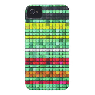 Abstract  Colorful quilt fabric iPhone 4 Case