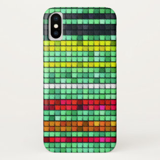 Abstract  Colorful quilt fabric iPhone X Case