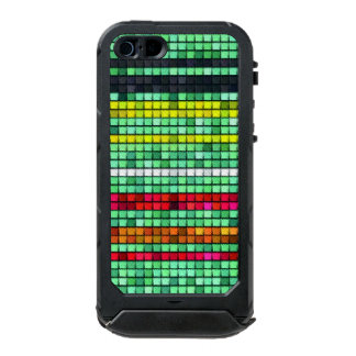Abstract  Colorful quilt fabric Waterproof iPhone SE/5/5s Case