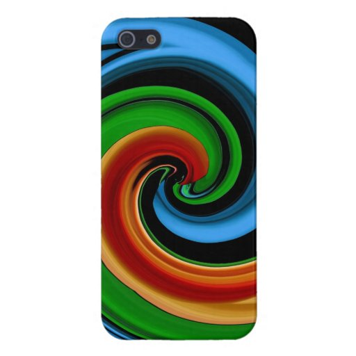 Abstract Colorful Rainbow Swirls iPhone 5 Case