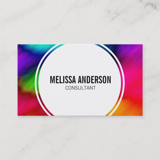 Abstract colorful rainbow tie dye business cards zazzle abstract colorful rainbow tie dye business cards colourmoves