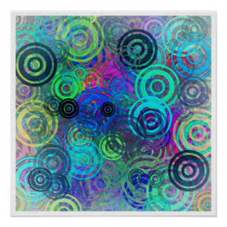 Abstract Colorful Rings Poster