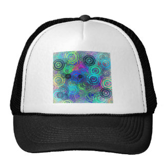 Abstract Colorful Rings Trucker Hat