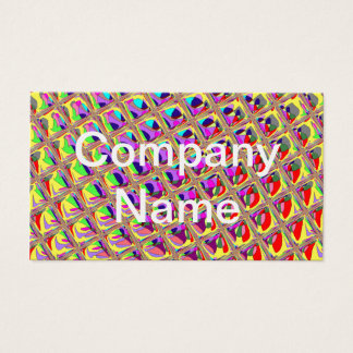 Abstract Colorful Squares Business Card