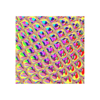 Abstract Colorful Squares Canvas Print