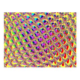 Abstract Colorful Squares Postcard
