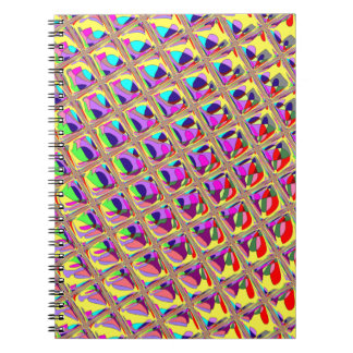 Abstract Colorful Squares Spiral Notebook