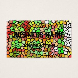 Abstract colorful stained glass business card
