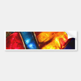 Abstract colorful stained glass pattern bumper sticker