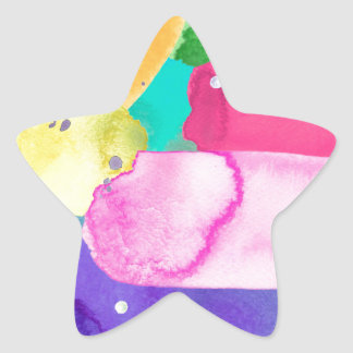 ABSTRACT COLORFUL STAR STICKER