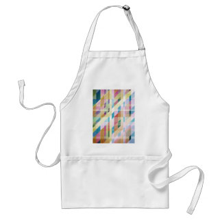 Abstract Colorful Stripes Adult Apron