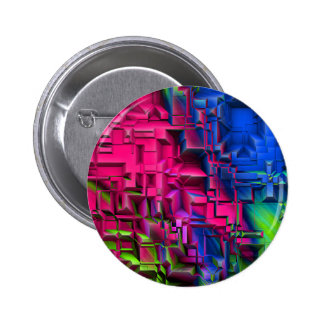 Abstract colorful structured (I) 2 Inch Round Button