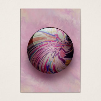 Abstract, colorful swirl, stripe shiny marble ACEO Business Card