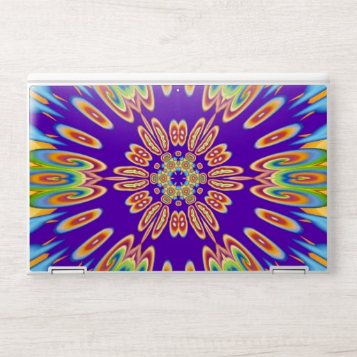 Abstract Colorful Symmetric Pattern HP Laptop Skin