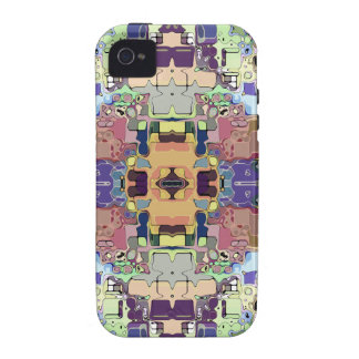 Abstract Colorful Symmetrical iPhone 4 Case