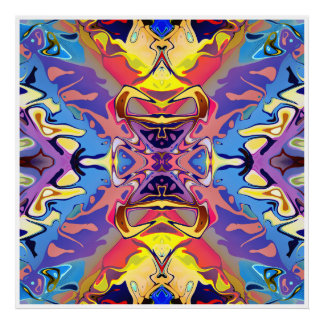 Abstract Colorful Symmetry Poster
