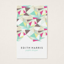 Abstract colorful teal pattern illustration modern business card