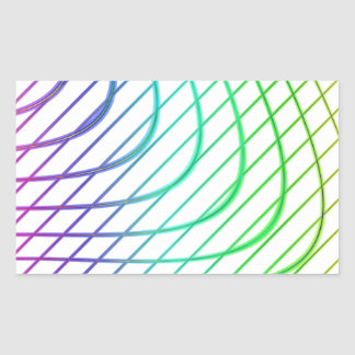 Abstract Colorful Timeless Lines Pattern Rectangular Sticker