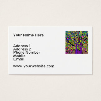 Abstract Colorful Tree Business Card