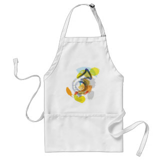 Abstract Colorful trumpet Adult Apron