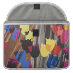 Abstract Colorful Tulips Sleeve For MacBooks