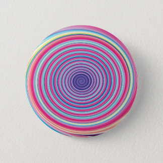 Abstract Colorful TWIRLING SPIRAL OPTICAL ILLUSION Pinback Button