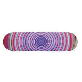 Abstract Colorful TWIRLING SPIRAL OPTICAL ILLUSION Skate Boards