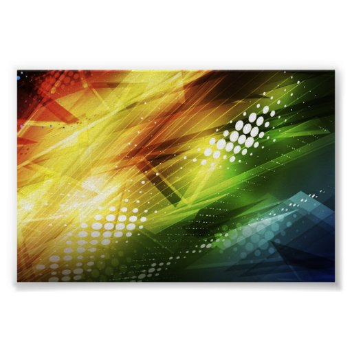 Abstract Colorful Vector Background Art Print