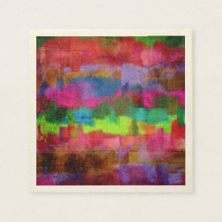 Abstract Colorful Watercolor Pattern Paper Napkin