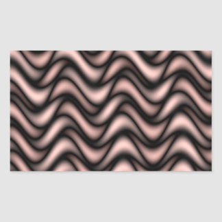 Abstract colorful waves rectangular sticker