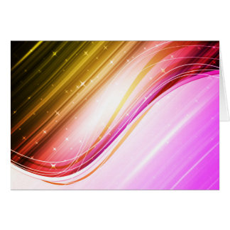 Abstract Colorful Waves Vector DIGITAL SWIRLS SPAC Card