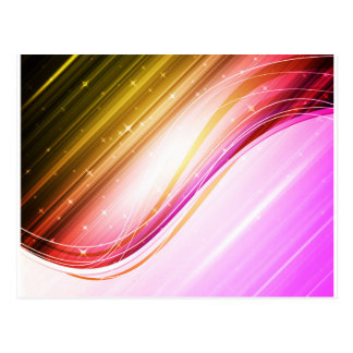 Abstract Colorful Waves Vector DIGITAL SWIRLS SPAC Postcard