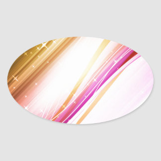 Abstract Colorful Waves Vector DIGITAL SWIRLS SPAC Oval Stickers