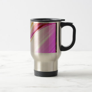 Abstract Colorful Waves Vector DIGITAL SWIRLS SPAC Travel Mug