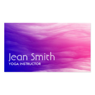 Abstract Colorful Yoga instructor Business Card
