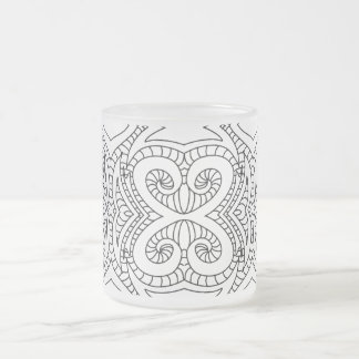 Abstract Coloring Page Style Frosted Mug