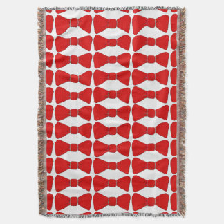 Abstract Colors and Bow Ties Throw Blanket