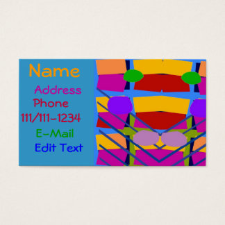 Abstract Colors and Shapes Modern Card